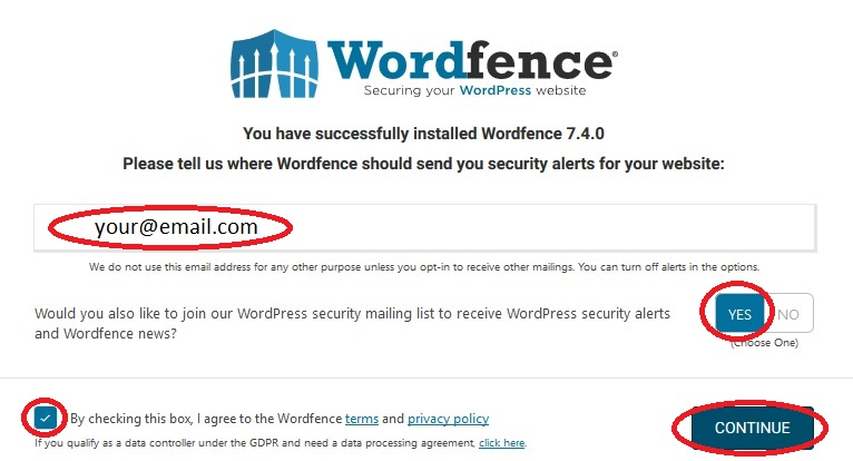 Securing WordPress with 2-factor authentication. Setting up your email.