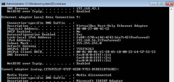 How to route to a GNS3 host in a Live Raizo VM. Finding the ethernet adapter of the VM in the CLI