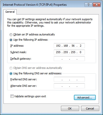 How to route to a GNS3 host in a Live Raizo VM. Changing the IP address and default gateway of an adapter.