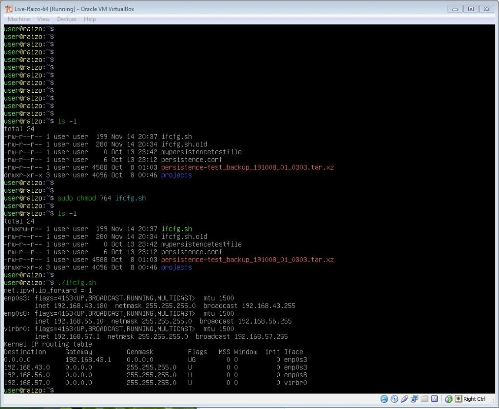 How to script interface configurations in Linux, Activating and running a script in Linux.