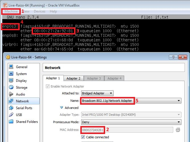 Identifying a wireless interface on a VM, and matching it to an interface in the OS.