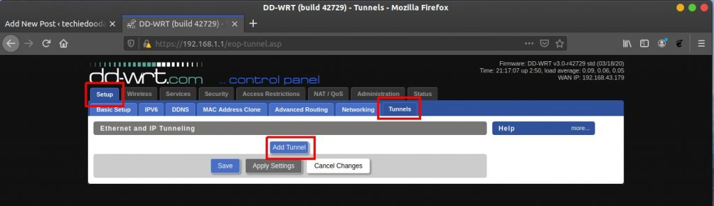 How to configure your DD-WRT Wireguard VPN - Adding a tunnel from the GUI